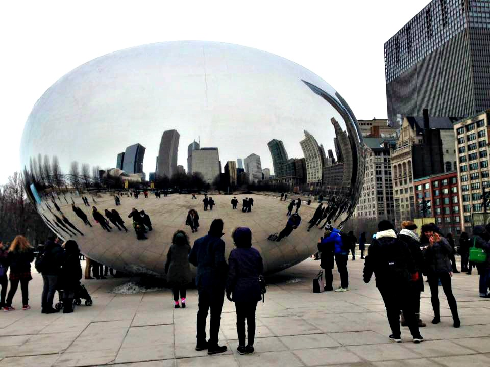 Couple at Bean - Danielle Breshears Group Tours