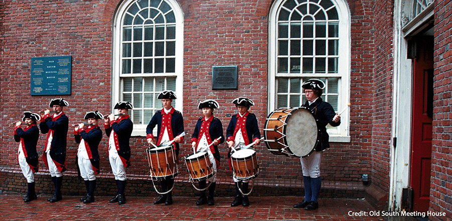 Drumline Re-enactors Credit Old South Meeting House
