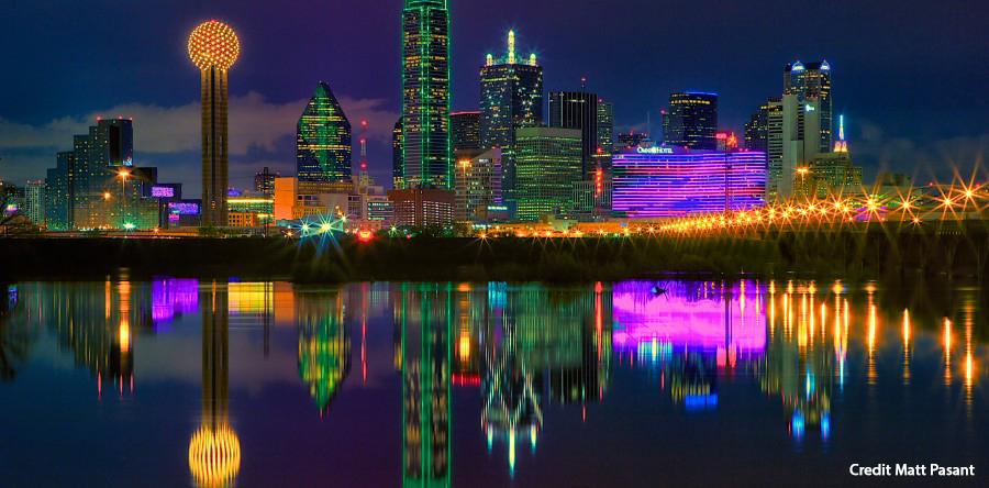 Dallas Skyline at Night Credit Matt Pasant