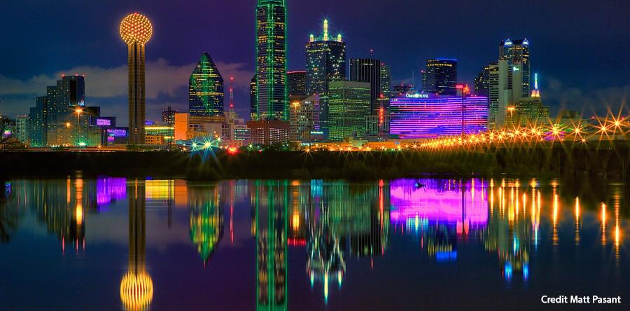 Dallas Skyline at Night Credit Matt Pasant