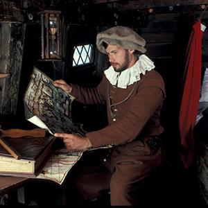 Mayflower II Pilgrim with Navigation Maps