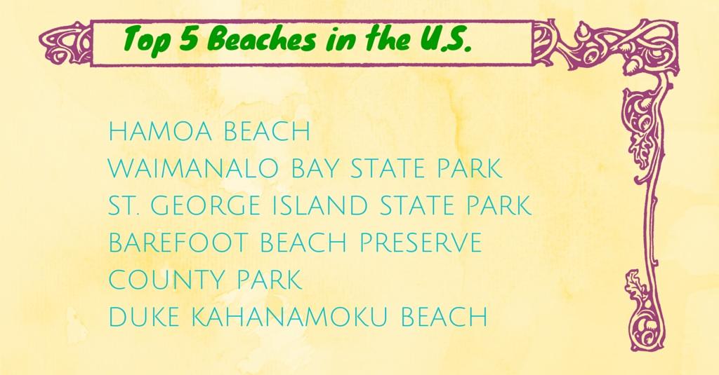 TOP 5 BEACHES IN THE U.S.