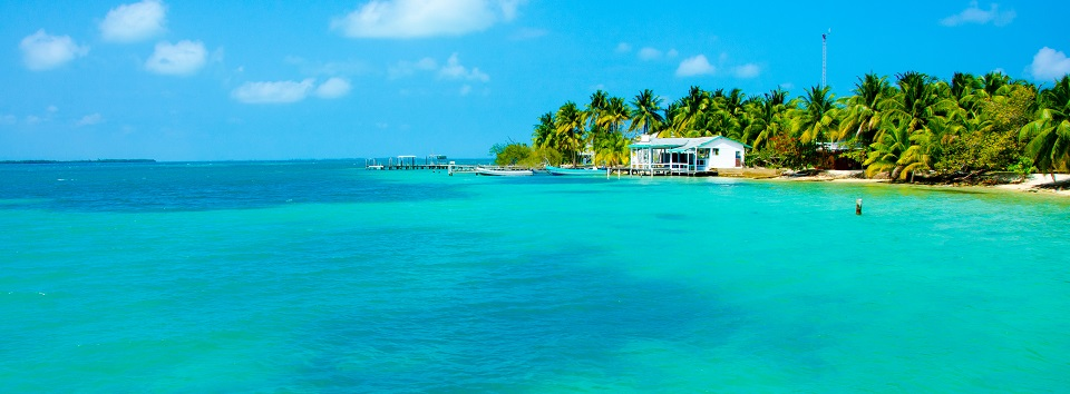 Paradise Beach on beautiful island South Water Caye - Belize