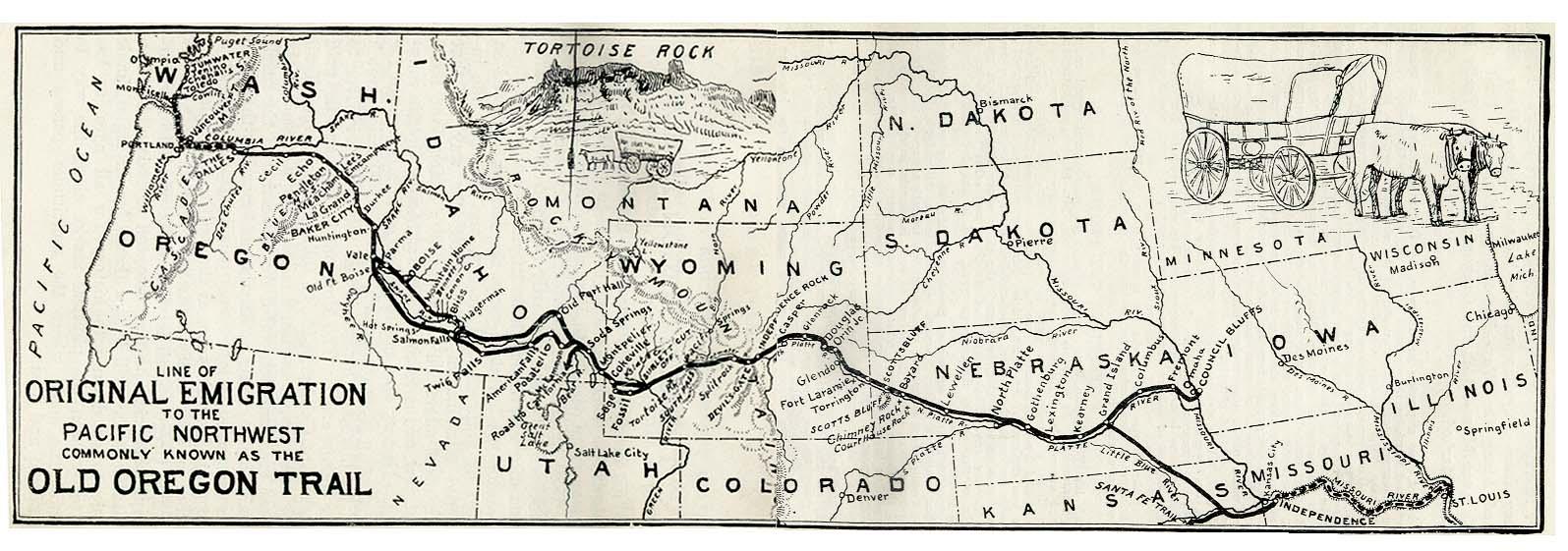 Oregon Trail Map Credit NPS