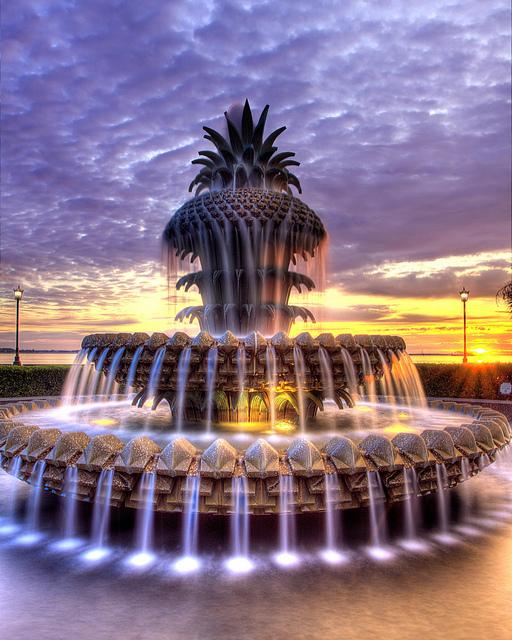 Waterfront Park Pineapple Fountain Scott Oves Flickr