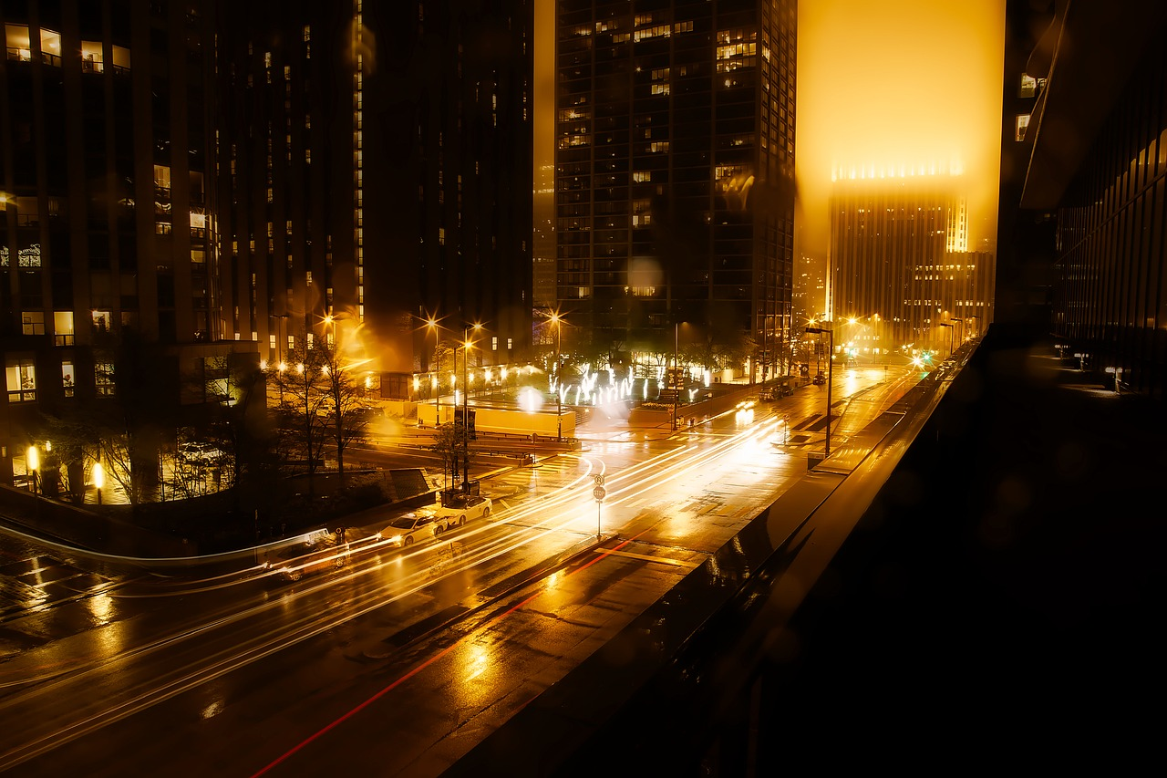 Atlanta at Night Pixabay Public Domain