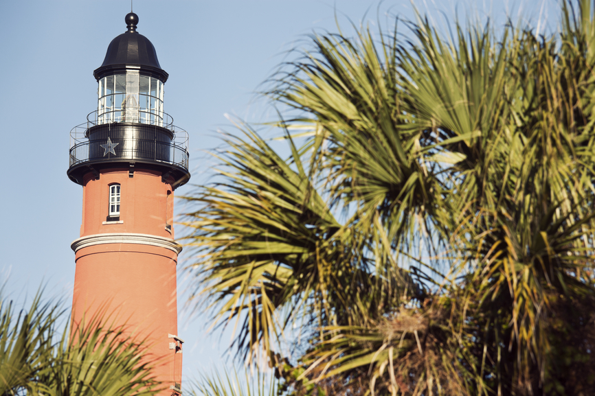 Ponce de Leon Inlet Lighthouse in Ponce Inlet, Florida