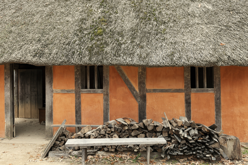 Jamestown - historic house. First English settlement in the Americas.